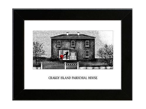 Craggy Island Parochial House - Father Ted - Framed Art Print