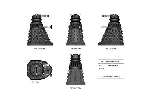 Dr Who - Dalek - Technical Art Print