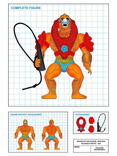 Masters of the Universe - Beastman - Art Print
