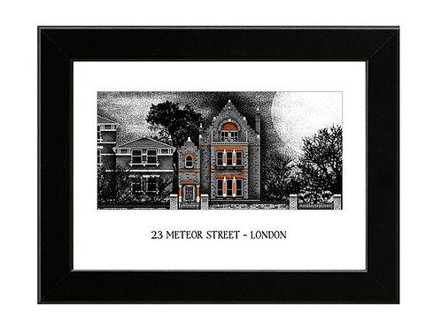 23 Meteor Street - Spaced - Framed Art Print