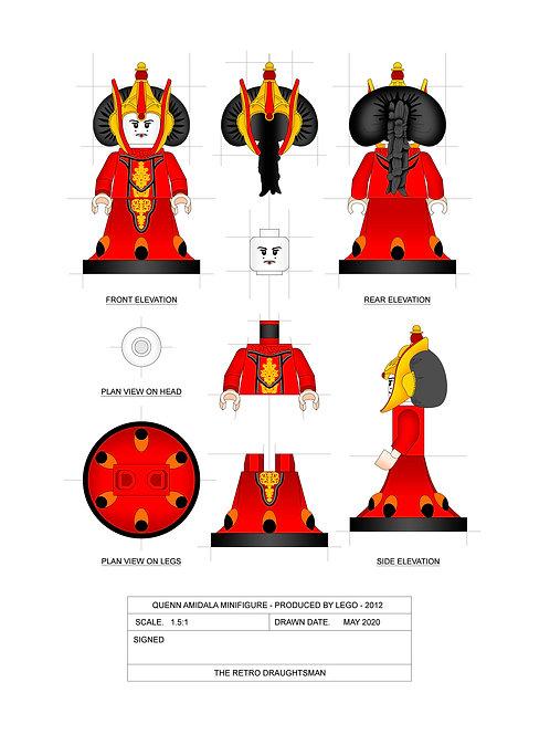 Queen Amidala - Minifigure - Art Print