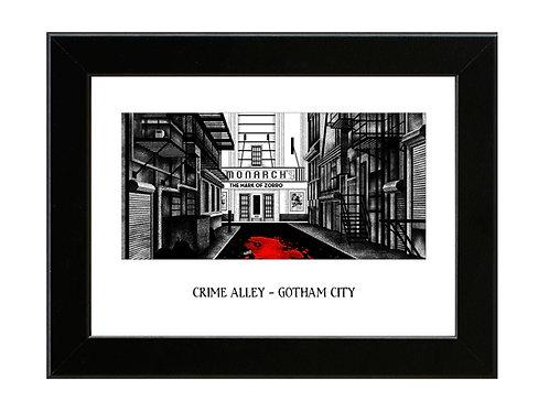 Crime Alley  - Batman - Framed Art Print
