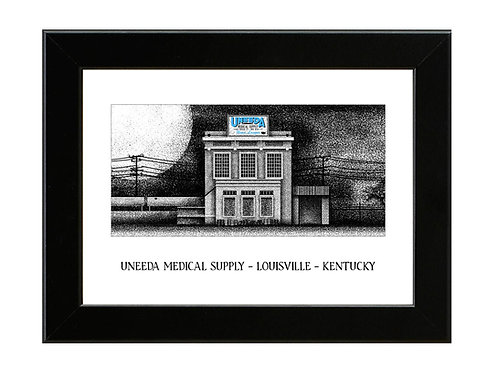 Uneeda Medical Supply - Return of the Living Dead - Framed Art Print