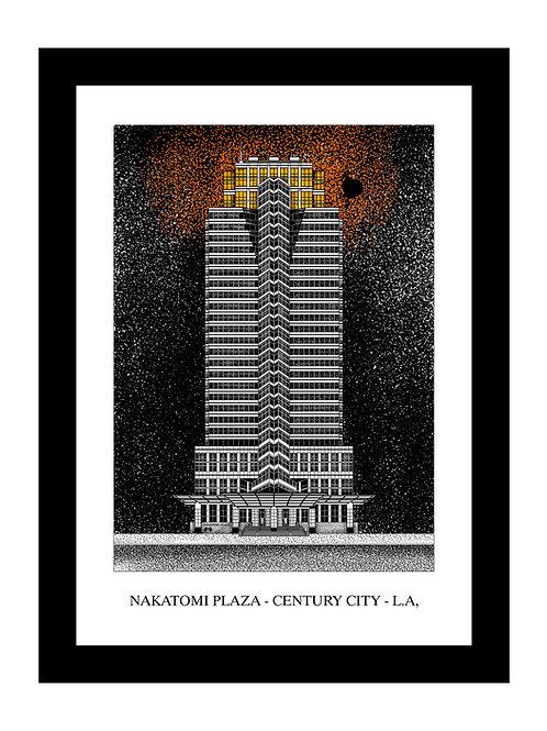 Nakatomi Plaza - Die Hard - Framed Art Print