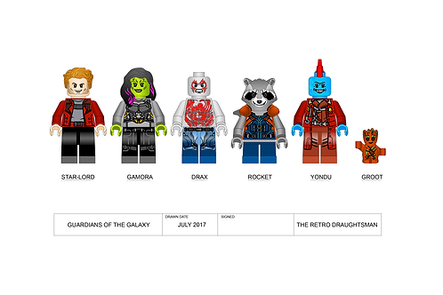 Guardians of the Galaxy - Minifigures - Art Print