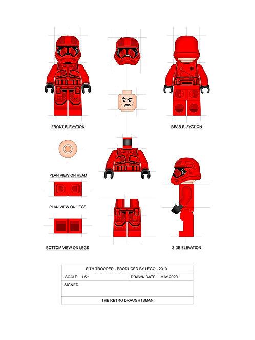 Sith Trooper - Minifigure - Art Print