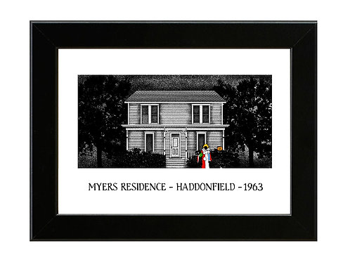 Halloween - Myers - 1963 - LIMITED TO ONLY 10 COPIES - Signed/Numbered & Framed