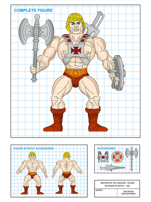 Masters of the Universe - He-Man - Art Print