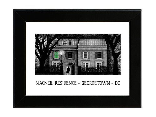 The Exorcist - Macneil Residence - Framed Art Print
