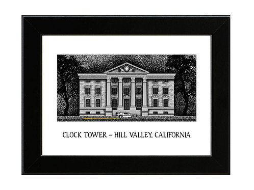Back to the Future - Clock Tower - Framed Art Print