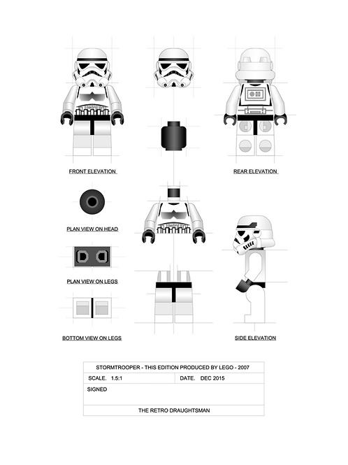 Stormtrooper - Minifigure - Art Print