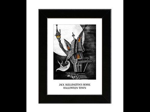 Nightmare Before Christmas - Jack Skellington's House - Framed Art Print