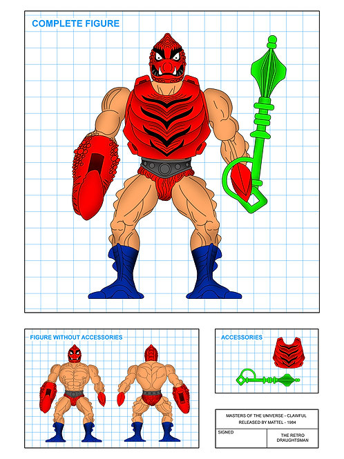 Masters of the Universe - Clawful - Art Print