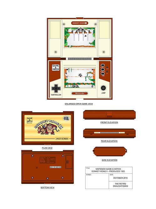 1983 - Game&Watch - DonkeyKong 2 - Art Print