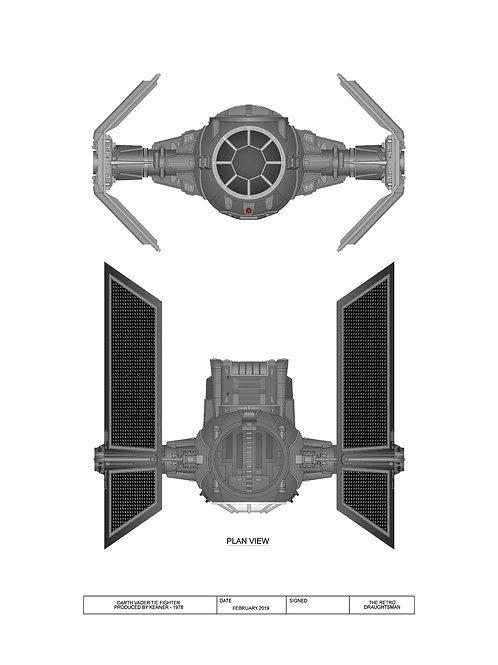 1978 - Kenner - Vader Tie Fighter Print