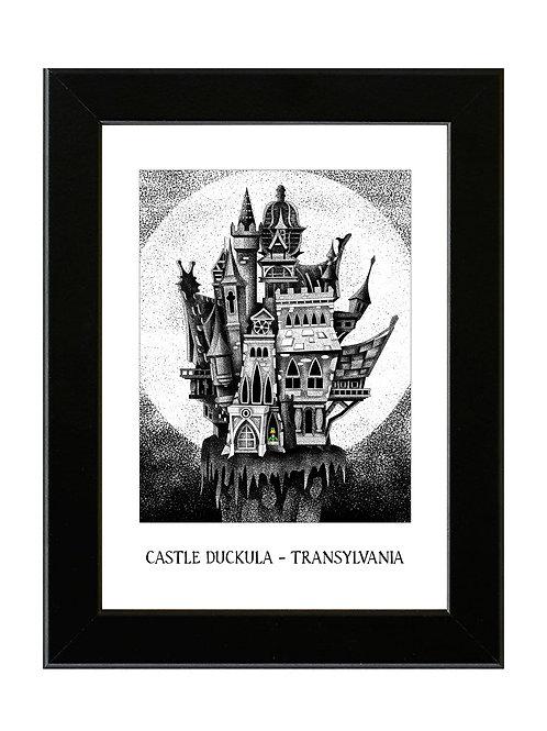 Castle Duckula. - Framed Art Print