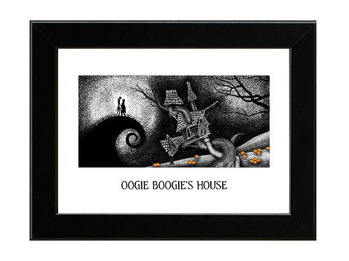 Nightmare Before Christmas - Oogie Boogies House - Framed Art Print