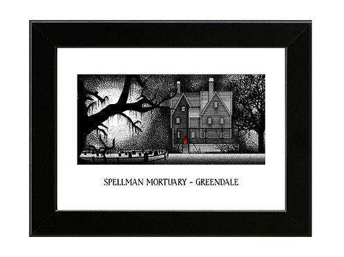 Spellman Mortuary - Sabrina - Framed Art Print