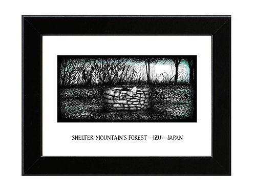 Shelter Mountains Forest Well - The Ring - Framed Art Print