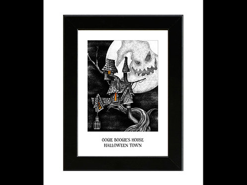 Nightmare Before Christmas - Oogie Boogies House - Framed Art Print