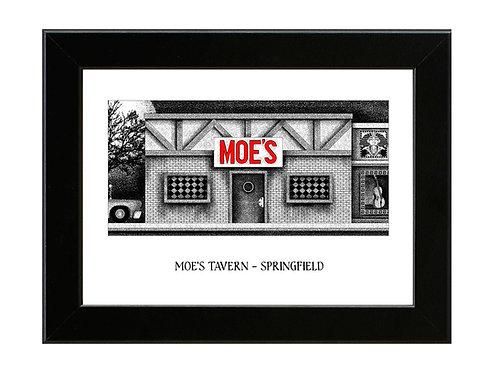 Moe's Tavern - The Simpsons - Framed Art Print