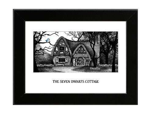 The Seven Dwarfs Cottage - Snow White - Framed Art Print