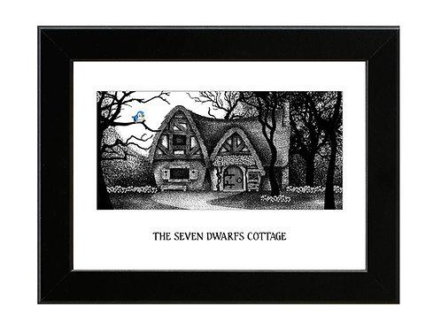 The Seven Dwarfs Cottage - Snow White - Framed Art Print