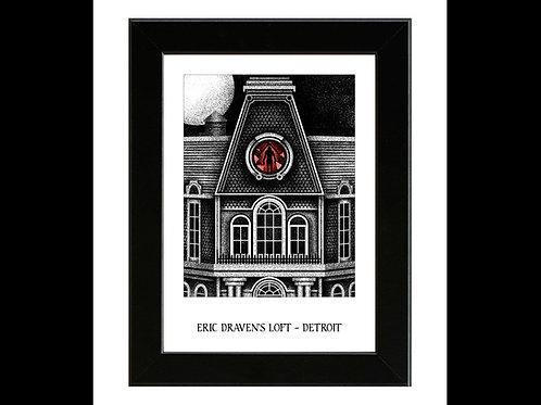 The Crow - Eric Draven's Loft - Framed Art Print