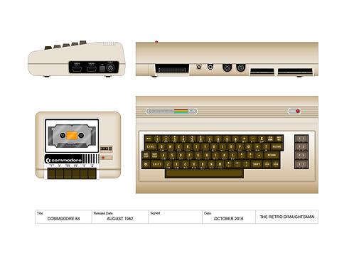 Commodore 64 - Technical Art Print
