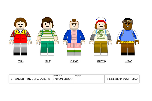 Stranger Things Character - Minifigures - Art Print