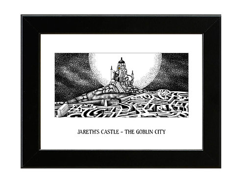 Jareth's Castle - Labyrinth - Framed Art Print