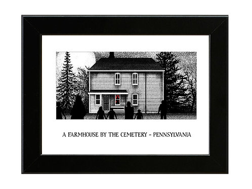 Night of the Living Dead Farmhouse - Framed Art Print