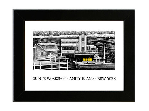 Quint's Workshop - Jaws - Framed Art Print