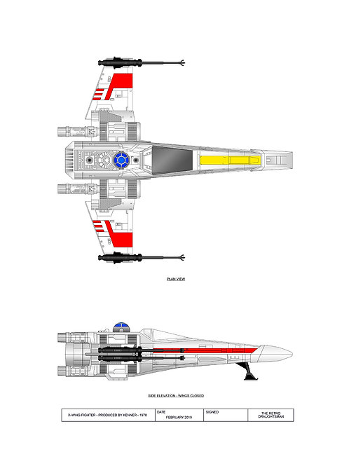 1978 - Kenner - X-Wing Fighter - 2 Print Set