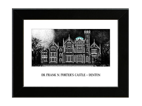 Dr. Frank N Furter's Castle - Rocky Horror Picture Show - Framed Art Print