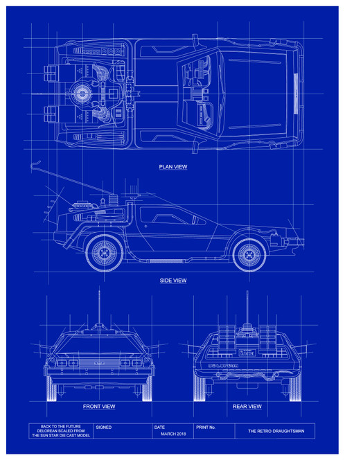 Back to the future delorean limited edition blueprint art malvernweather Images
