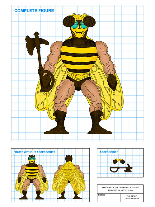 Masters of the Universe - Buzz Off - Art Print