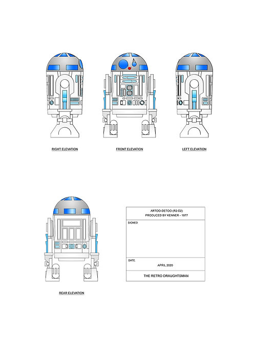 1977 Solid Dome Artoo-Detoo - Art Print
