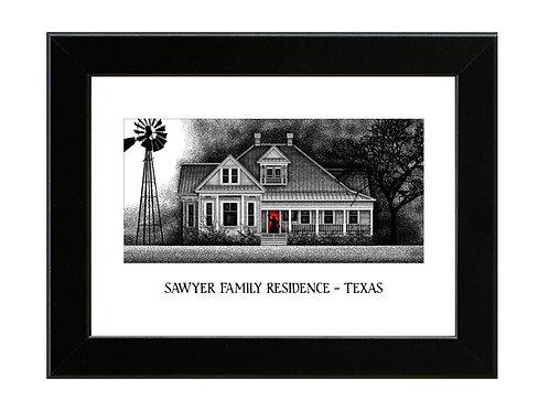 Sawyer Family Residence - Texas Chainsaw Massacre - Framed Art Print