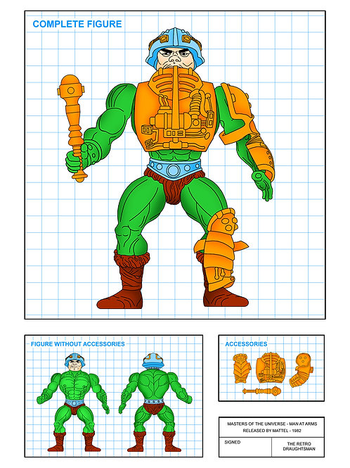 Masters of the Universe - Man at Arms - Art Print