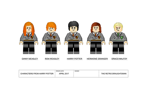 Harry Potter Character - Minifigures - Art Print