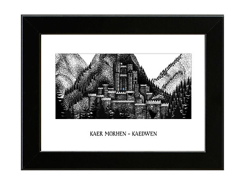 Kaer Morhen - The Witcher - Framed Art Print