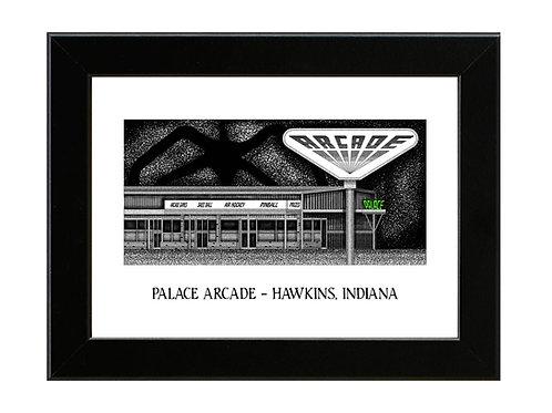 Stranger Things - Palace Arcade - Framed Art Print
