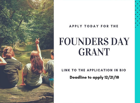 2019 Founders Day Grant is taking applicants