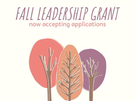 Fall Leadership Grant 2020