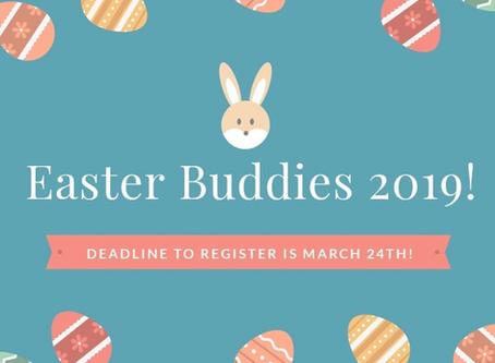 Easter Buddies 2019 Sister Registration Begins!