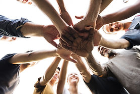 Diverse Group of People Hands Together P