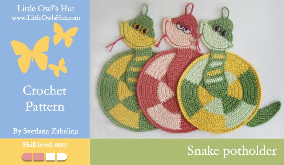 Zabelina Snake Potholder