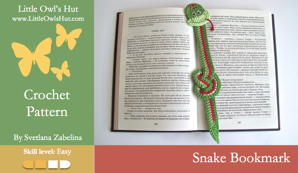 Zabelina Snake Bookmark
