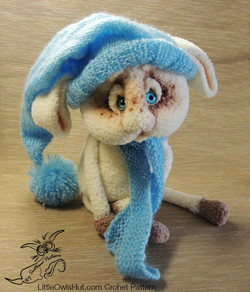 Rabbit in a blue hat